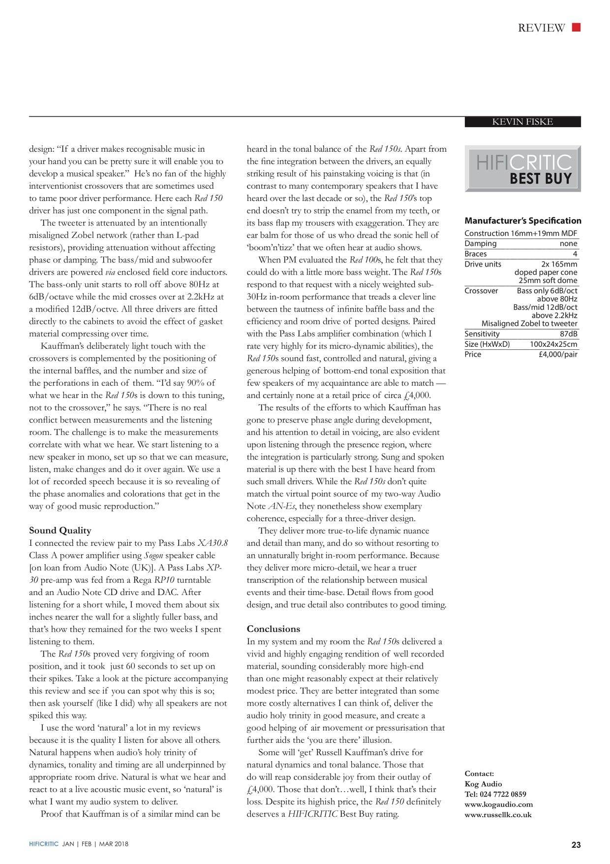 HFCritic RK 150 review page 2